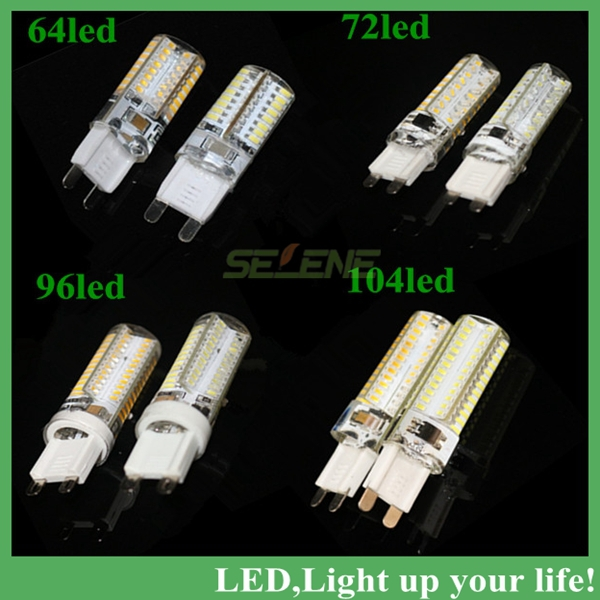 Dimmable led lamp g9 220V smd3014 24led 64led 72led 96led 104led Highlight corn bulb Crystal Chandelier COB Spot light(China (Mainland))