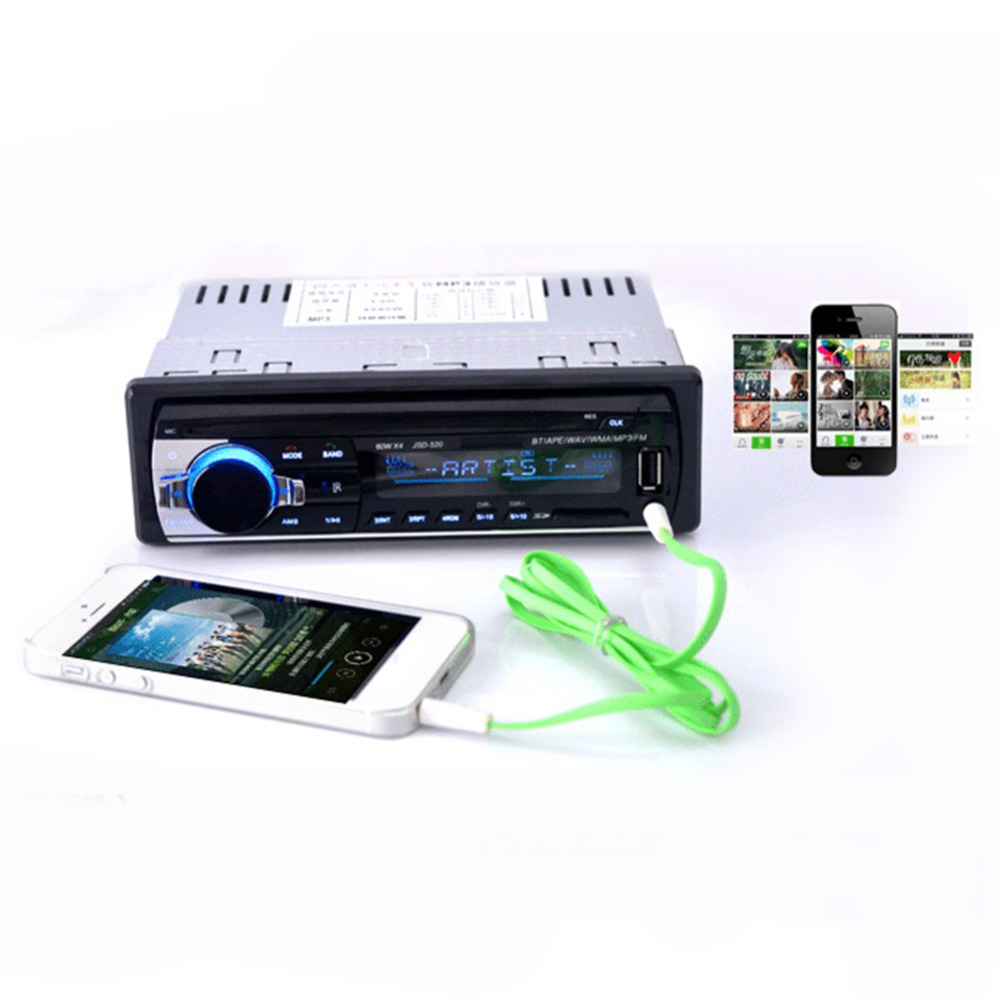 High Quality Car Audio Stereo In Dash Music MP3 Player Radio USB SD MMC Input Receiver