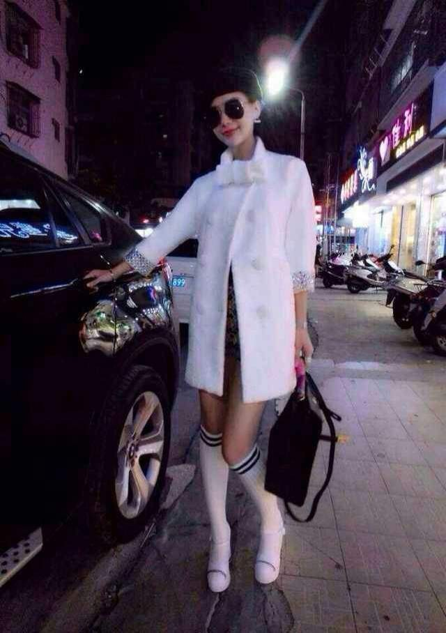 women coats winter fashion 2014 US Europe style trench dresses pure manual crystal sleeve luxury white wool female - Sweety Global Brand store