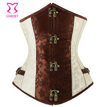 Vintage Brocade Steampunk Corset Underbust Waist Training Corsets and Bustiers Steel Boned Corselet Corpetes Espartilhos Gothic