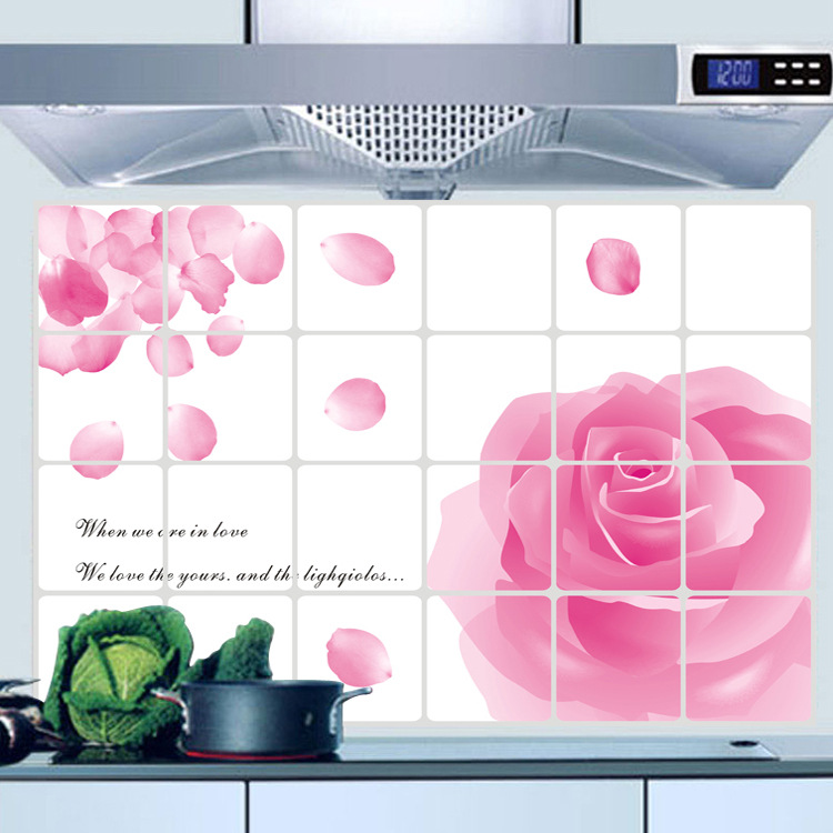 AY4004 pink rose oil can remove the home kitchen anti oil paste foil heat resistance(China (Mainland))