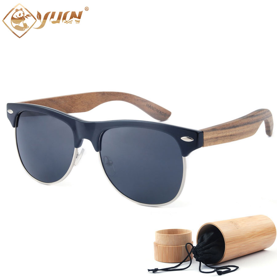 2016 new bamboo wooden sunglasses classic men polarized driving sun glasses wooden arms glasses 1503(China (Mainland))