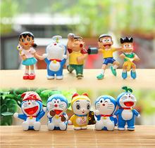 10 Pcs/set Cartoon Doraemon Family PVC Model Action Figure Toys Kids Doll