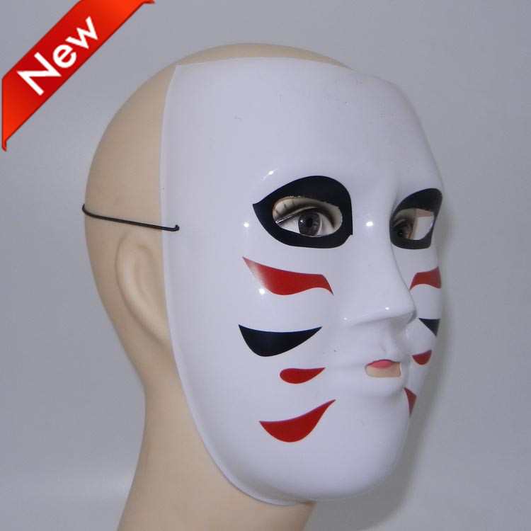 Cosplay Golden Bomber Dance Mask Cartoon White Full Face Party Masquerade Carnival Halloween costume 5 - Caly Tao's store