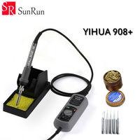 YIHUA 908+ 60w electric iron soldering station thermostat Pocket mini iron soldering station + 5PCS iron Tsui