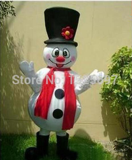 2015 New free shipping Custom made NEW PROFESSIONAL SNOWMAN MASCOT COSTUME Christmas Adult Fancy Dress(China (Mainland))
