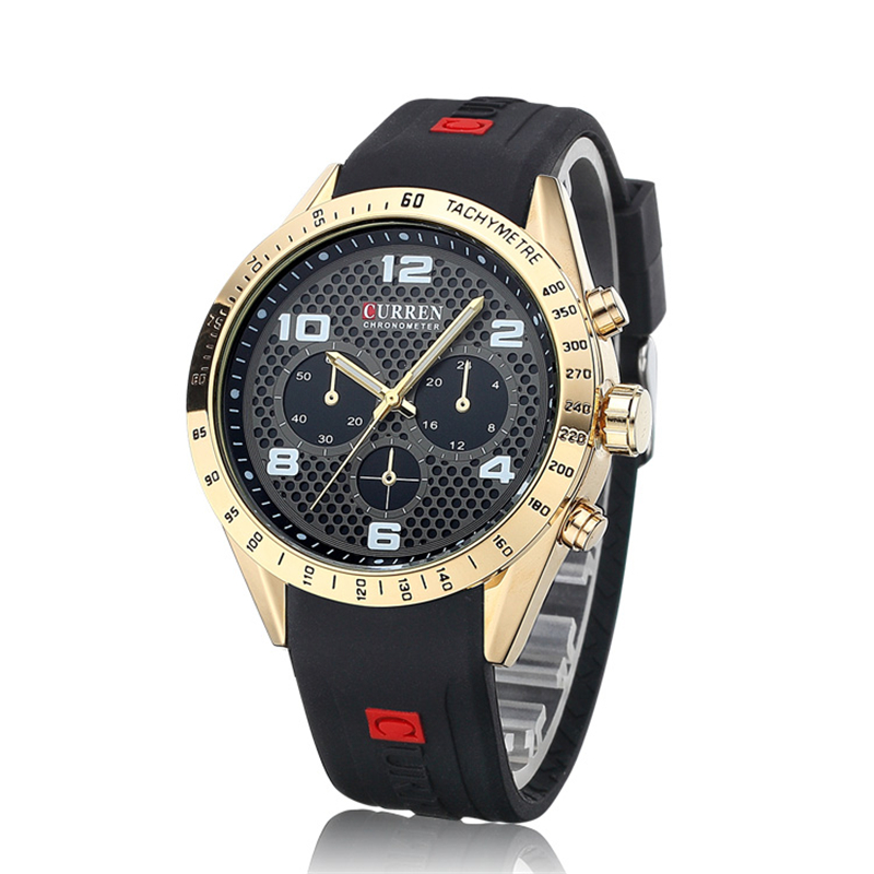 Best Mens Luxury Brand Watches Silicone Sport Mens Watch Curren Casual Wristwatches Quartz Movement Analog Relogio<br><br>Aliexpress