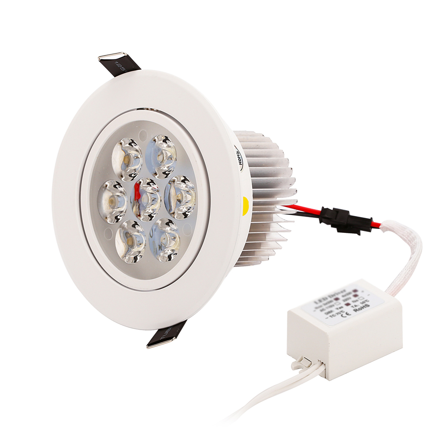 1pcs Dimmable LED Recessed Downlight 1W 3W 5W 7W 90-770lm Cut hole size 40-95mm 1.55-3.7 inch Warm Nature Pure White Spot lights
