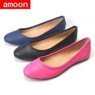 Amoon / Women Girl 2015 New Spring Summer Autumn Fashion Rubber PU Solid Round Toe Flat 108#42/ 3 Colors/ 7 Plus 41 Size - ^^ Flats and More store