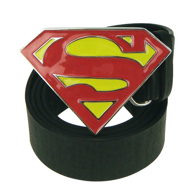 3PCS Classic Film Hero Superman Motorcycle Man Cowboy Men Enamel Leather Belt Buckle for men belt hot sell