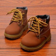 אביב סתיו חורף ילדי סניקרס מרטין מגפי ילדי נעלי בני בנות שלג מגפי נעליים יומיומיות בנות בני קטיפה אופנה מגפיים(China)