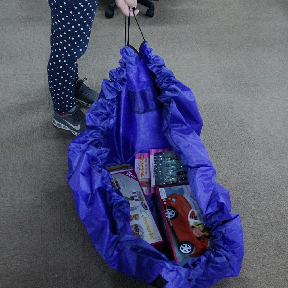 Low price promotion Large Kids Toy Storage Bag Organizer Play Mat Big Size Blue/Pink(China (Mainland))