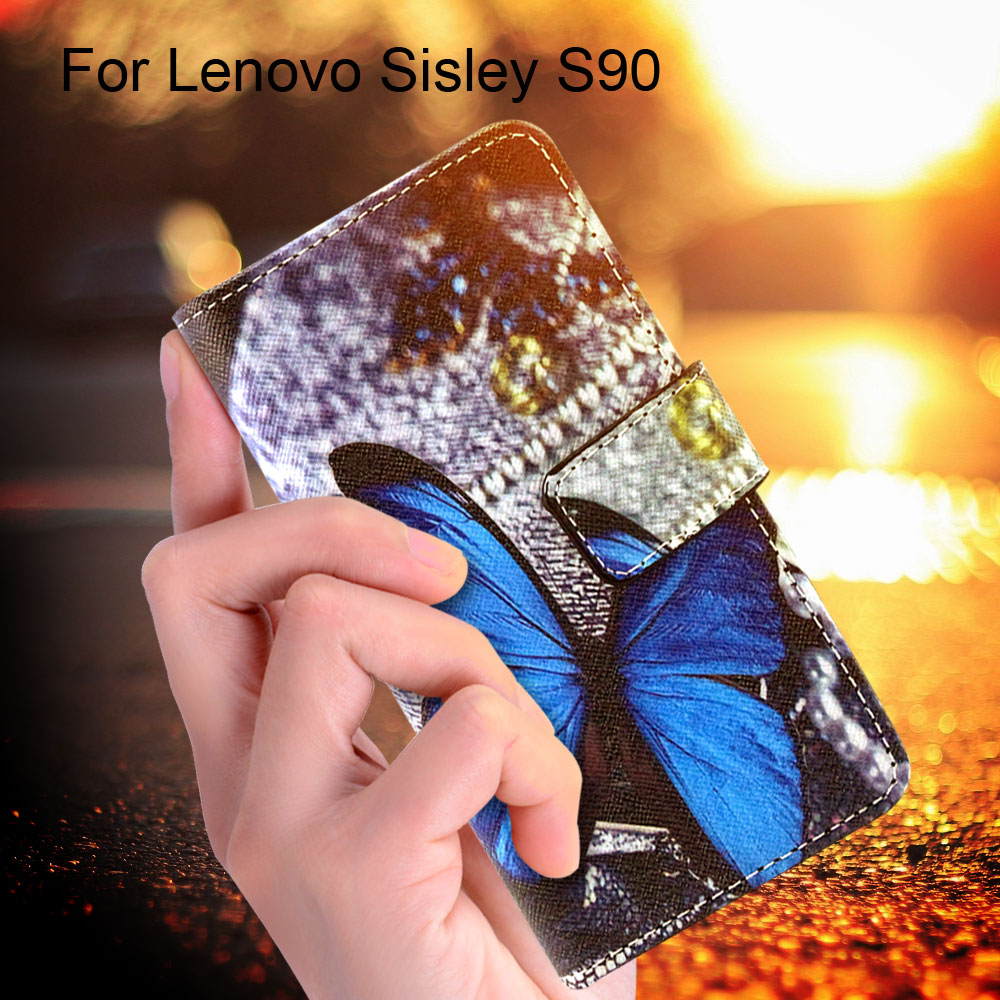 For Lenovo S 90 Bag Wallet Case for Lenovo S90 Leather Stand Cover for Lenovo Sisley S90 - Never Stop Dreaming(China (Mainland))