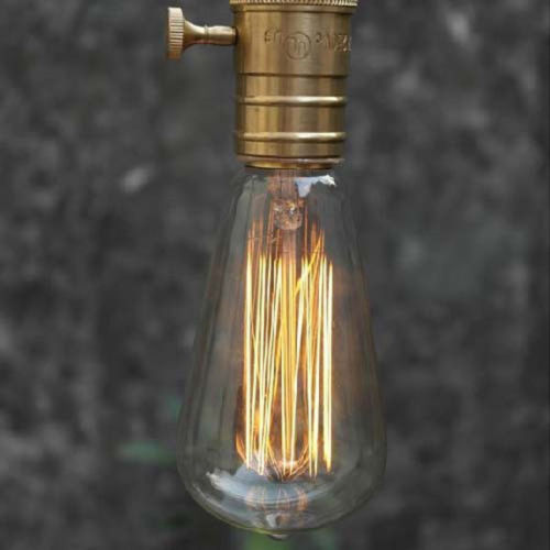 Light Bulb Industry: Edison Vintage Antique Retro ST64 220V/40W E27 Industrial Light Ceiling Bulb  Lighting Reproduction Incandescent,Lighting