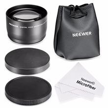 Neewer 58mm 2.2X 2X Telephoto Lens + Lens Bag for Canon 350D  450D 500D 1000D 550D 600D 1100D 700D 650D 60D T5i T4i T3i  18-55mm(China (Mainland))