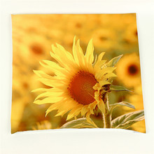 Sunflower Yellow 3D Print Throw Pillowcase Cushion Cover