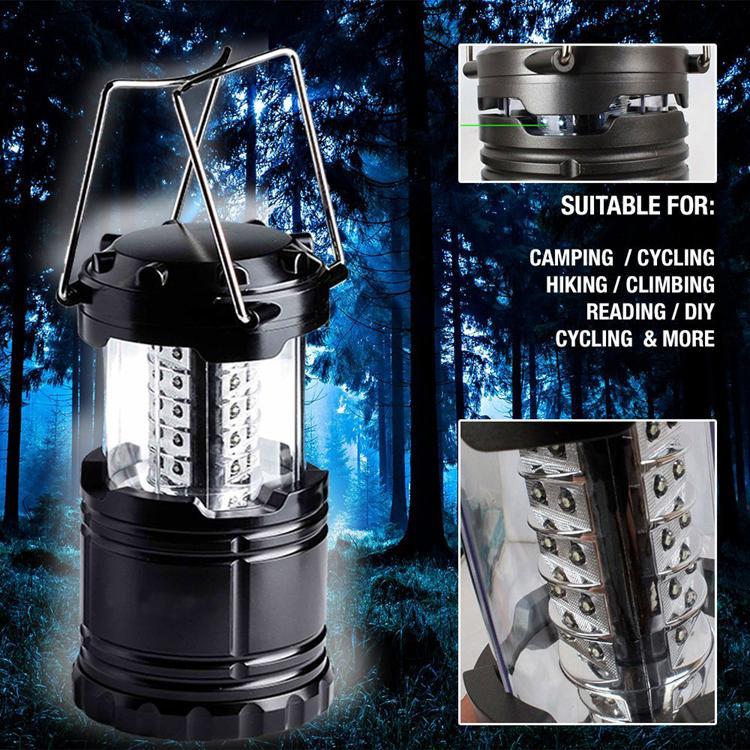 Bright Collapsible 30 LED Camping Lanterns Lights for Hiking Emergencies
