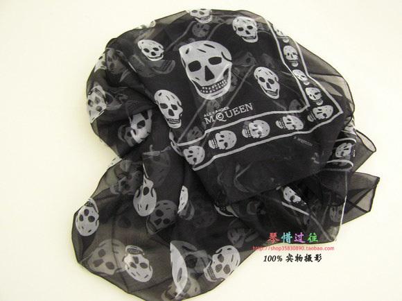 Alexander 2 mqueen silk scarf skull scarf female scarf cape