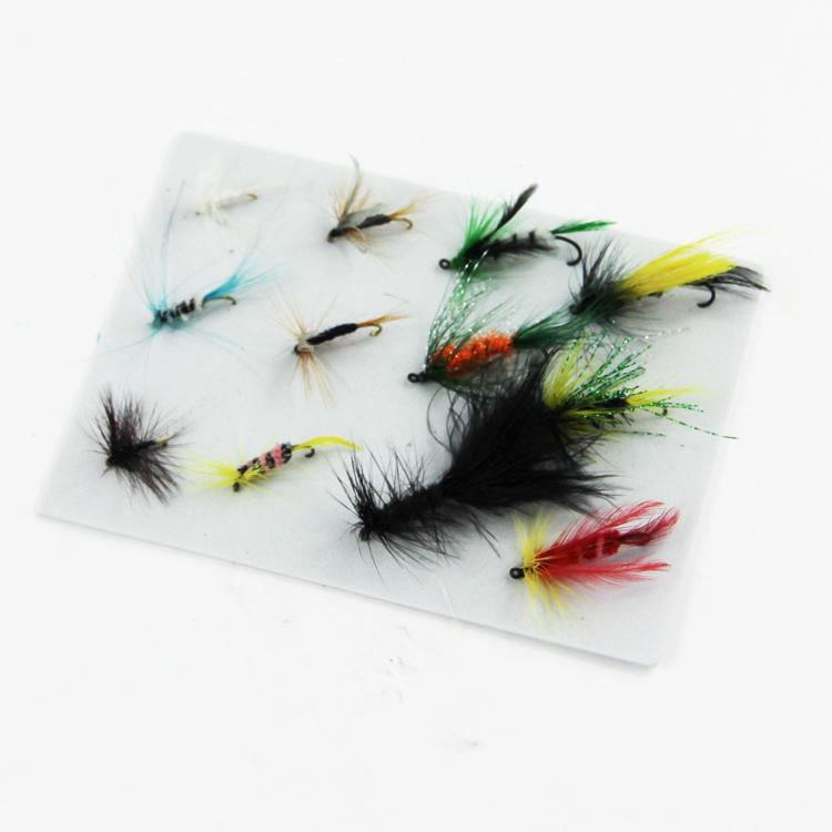 12 pcs/set Various Dry Fly  Fishing Trout Salmon Dry Flies Fish Hook Lures  fishing fishing