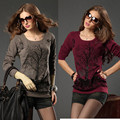 Plus Size Clothing Spring Fashion Pullovers Sweater Women Jumpers Loose Knitwear Long Sleeve Cotton Women Sweaters