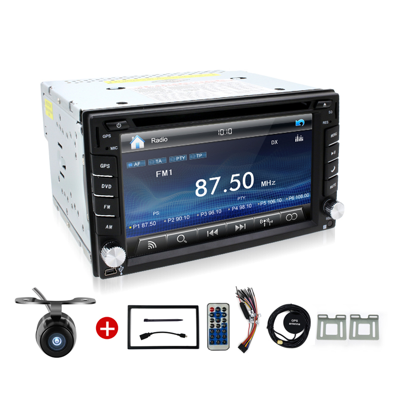 "Universal 2Din 6.2"" In Dash Car DVD Player Radio Auto GPS/FM/USB/SD/Bluetooth/ HD digital touch screen full popular function CAM(China (Mainland))"