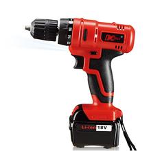 Envío gratis calidad garantizada 18 v High torque eléctrico sin cuerda taladros, tornillo de montaje, metal y madera de perforación
