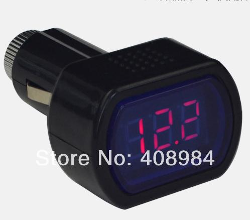 200pcs/lot free by fedex/dhl/ups/tnt Digital LED Car Truck System Battery Voltmeter Voltage Gauge Volt Meter 12V 24V(China (Mainland))