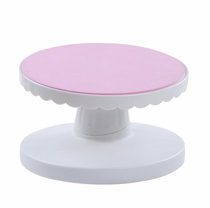 Pink Plastic Cake Turntables Rotating 360 Degrees Inclined ...
