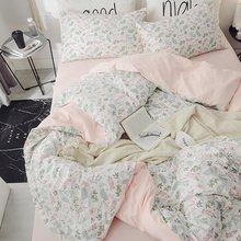 100%Cotton Twin Queen King cactus Bedding Set Kids Single Bed sheet Fitted sheet Duvet cover parrure de lit ropa/juego de cama(China)