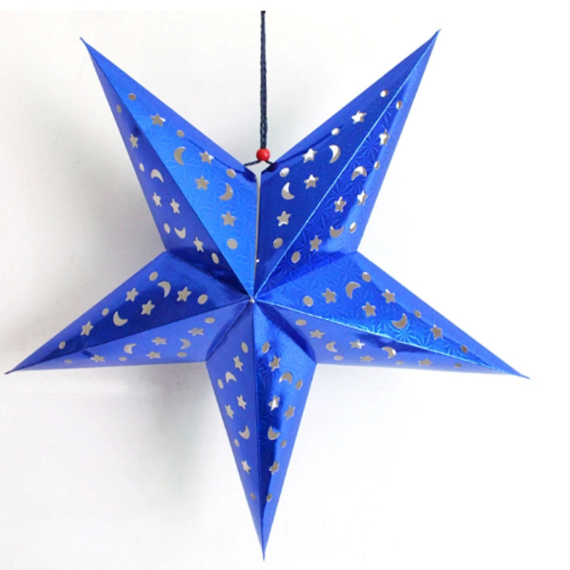 Christmas Decoration Stereo Led Candle Paper Star