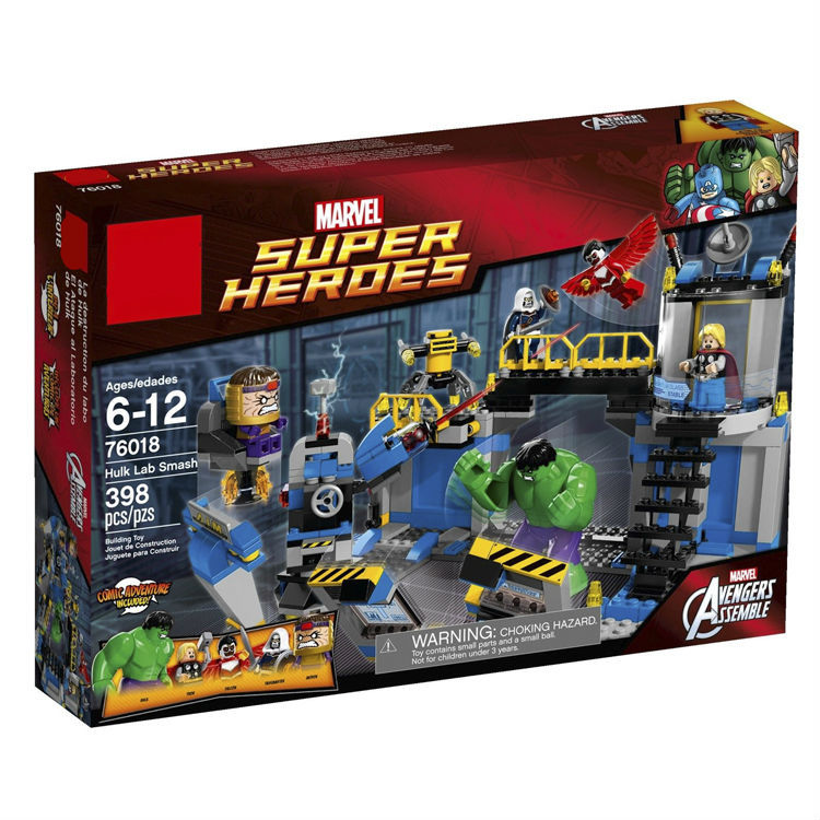 Super heroes series HULK LAB SMASH Avengers Assemble Minifigure plastic Building Block Toys Compatible with lego 76018(China (Mainland))