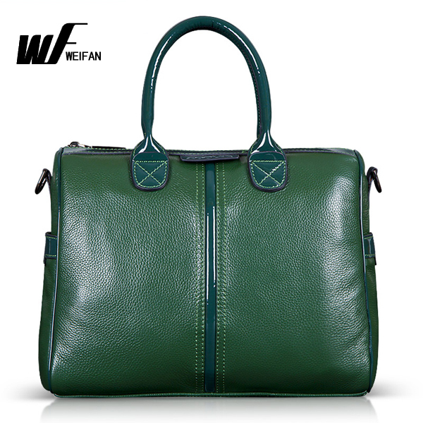 Free Shipping 2015 Winter Green Embossed Genuine Leather Women Handbag Ladies Leather Bag Retro Female Shoulder Messenger Bag(China (Mainland))
