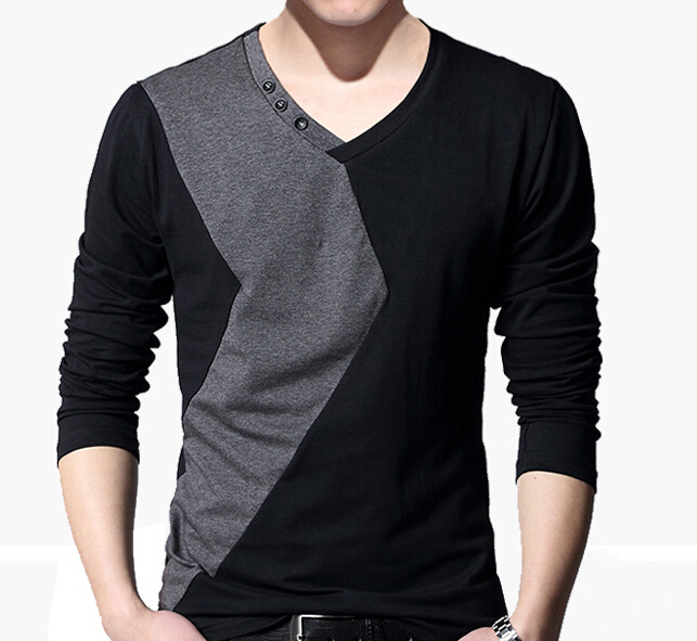 Buy fashion men 39 s v neck long sleeve for Mens long sleeve t shirts sale