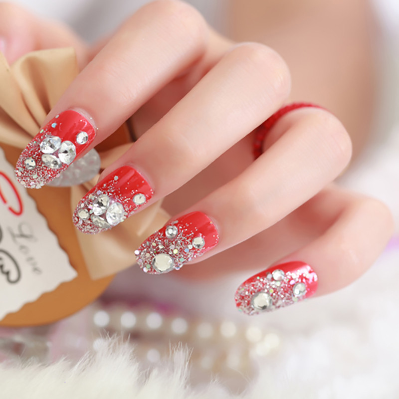 Super-deal-Shiny-1440PCS-SS3-to-ss10-non-hotfix-rhinestone-Clear-Crystal-color-3D-Nail-Art