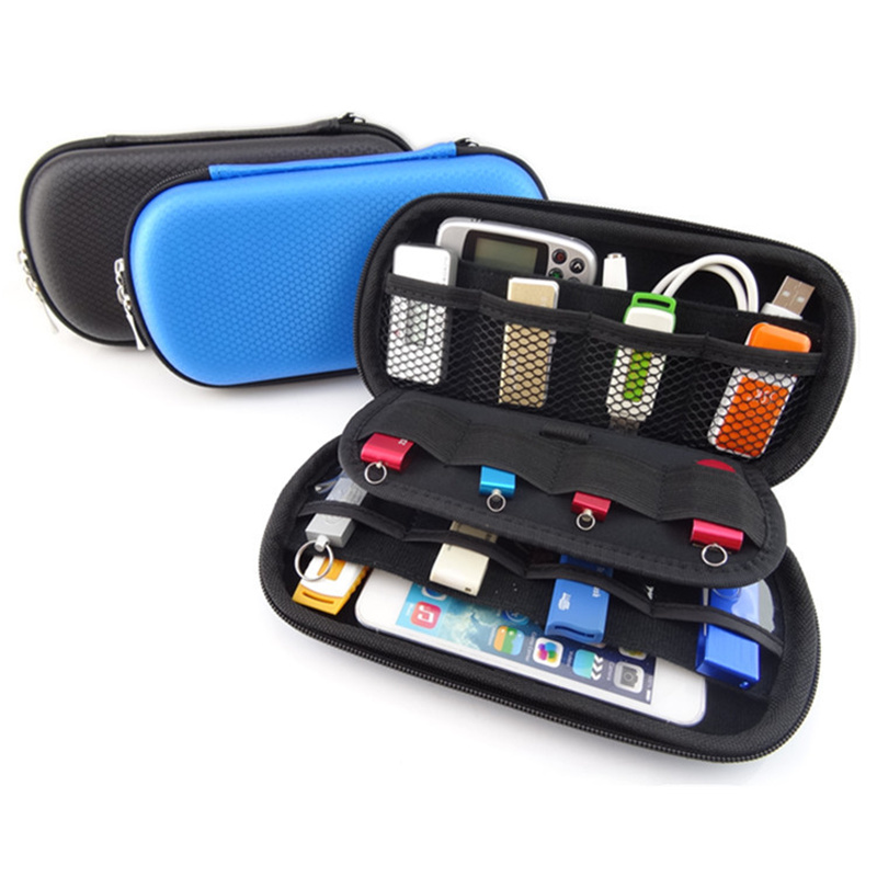 Mini Digital Gadget Pouch Travel Storage Bag for USB Flash Drive, Health USB Key, SD Memory Card Case, Phone, Bank Card(China (Mainland))
