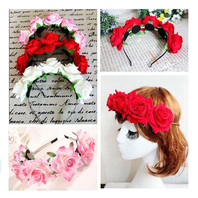 Ободки из цветов на голову