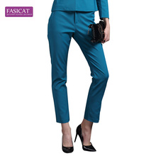 Fasicat Autumn and Winter Fashion Suit Pant Legging  Straight Full Lenght Elastic Cotton Material Pant T14157(China (Mainland))