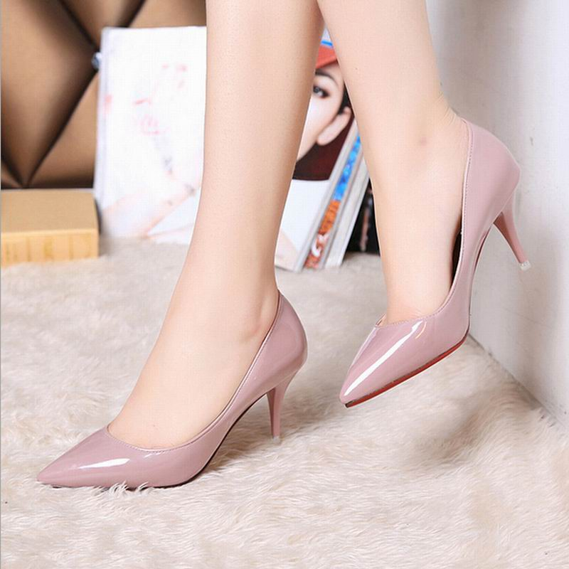 2016 New Women Pumps high heel shoes Leather platform Pumps fashion dress sexy heels pumps for women hot sale EUR size 35-39(China (Mainland))