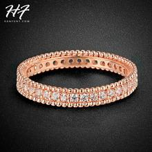 18K Rose Gold Plated Simple Classic Wedding & Engagement Ring Jewelry Made With AAA+ CZ diamond For Women R490(China (Mainland))