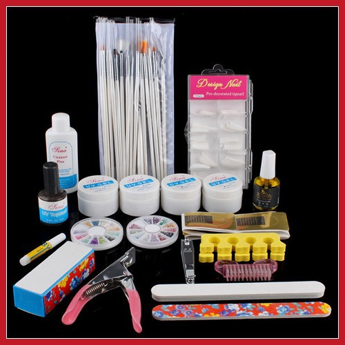 lower price buywise Full Cutter Buffer Brush Acrylic Glue Nail Art UV Gel Powder Tips Kit Set #4 24 hours dispatch Brand New(China (Mainland))