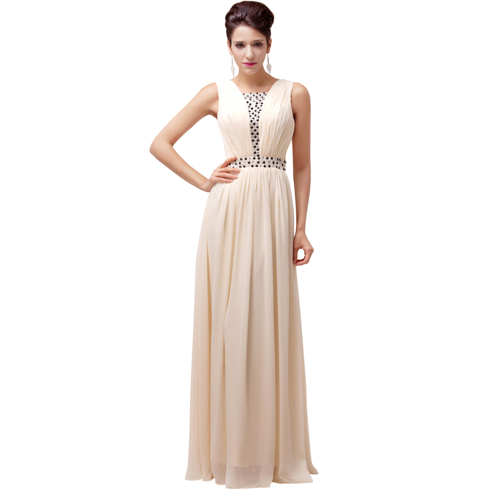Grace karin women long evening dress a line summer formal for Formal dress for women wedding