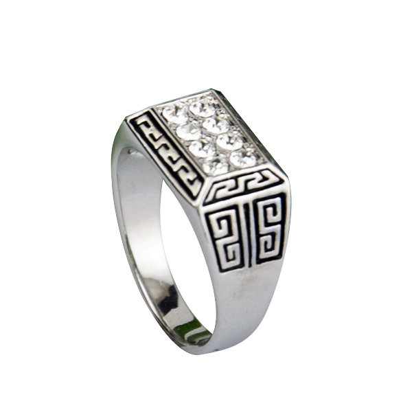 Big Size 9-12.25 New Enamel Jewelry Mens Rings Vintage Thick Crystal Jewelry Trendy Anel(China (Mainland))