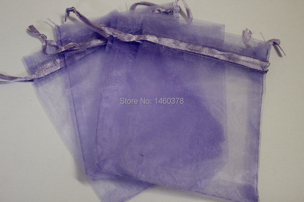 free shipping 500pcs Organza Bags Lilac Purple colour 7x9cm Wholesale Wedding Gift Bags Jewelry Packing Bags,Wedding Pouches(China (Mainland))