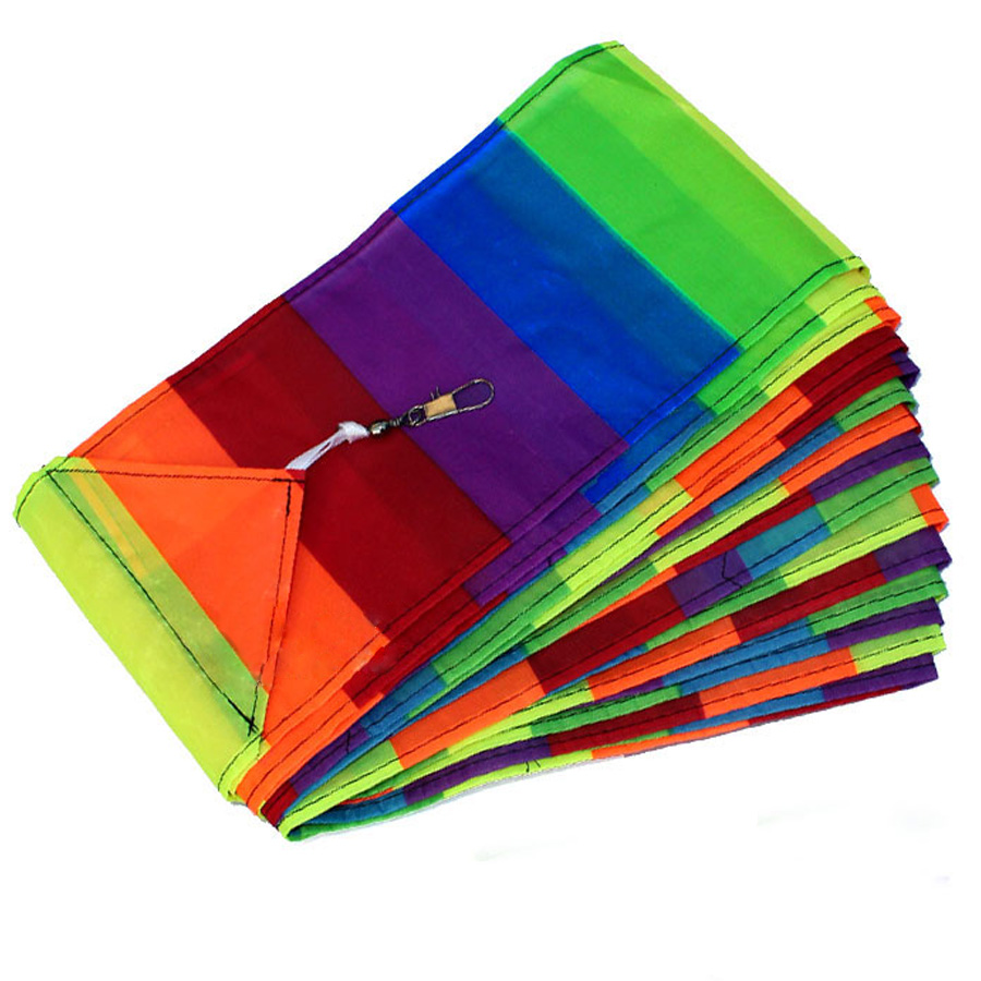 Free Shipping High Quality 10M Rainbow Kite Tail Creative Big Colourful Delta Kite Accessory<br><br>Aliexpress