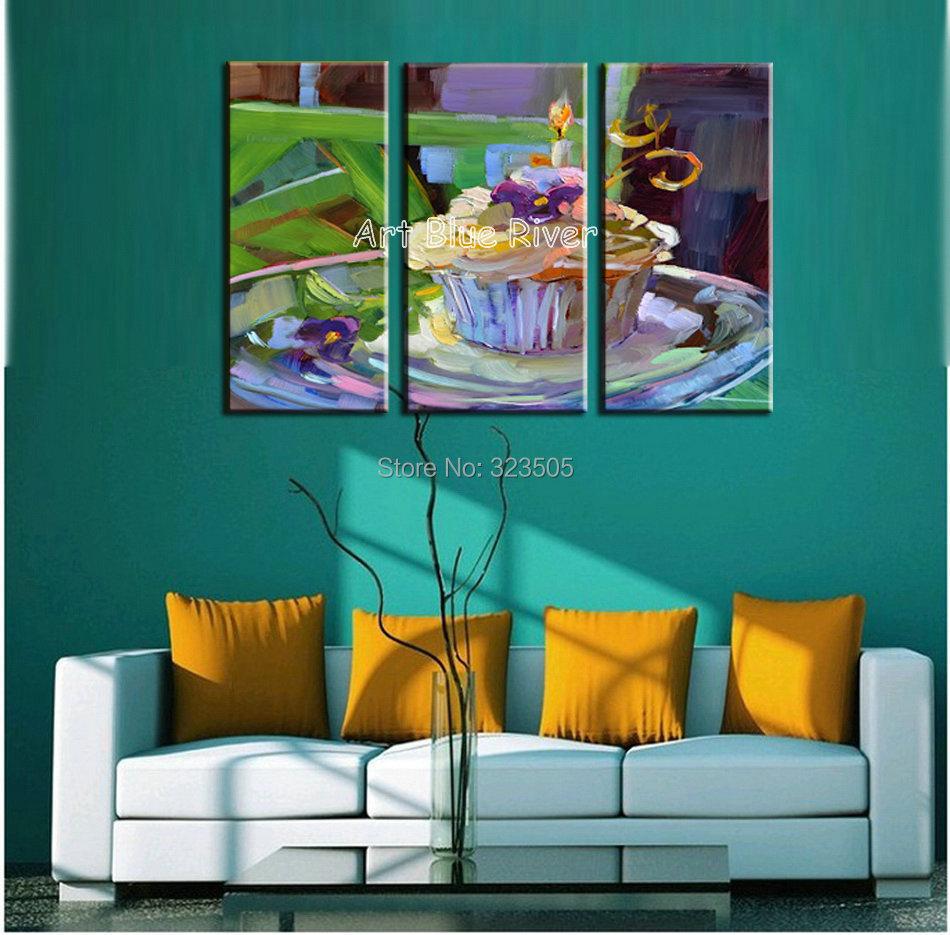 Online kopen Wholesale 3 stuk moderne canvas wall art drieluik ...