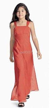 A-line Spaghetti Straps Floor- Length Flower Girl Dresses 2009 Style SKU510129