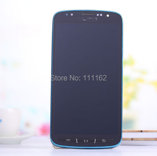 LCD Display + Digitizer Touch Screen assembly For  Samsung I9295 Galaxy S4 Active ( I537) BLUE