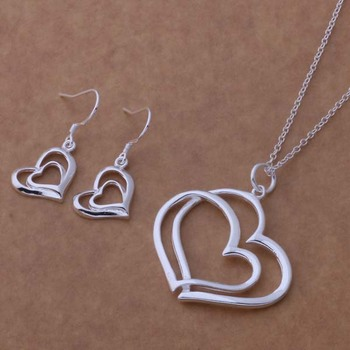 AS237 Hot 925 sterling silver Jewelry Sets Earring 327 + Necklace 148 /blxakdea ajxajbea