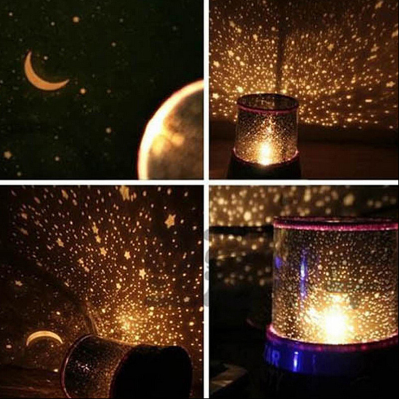 Romantic LED Color Twilight Star Cosmos Master Beauty Projector Starry Night Light Lamp -Kids Gift Sleep Help(China (Mainland))