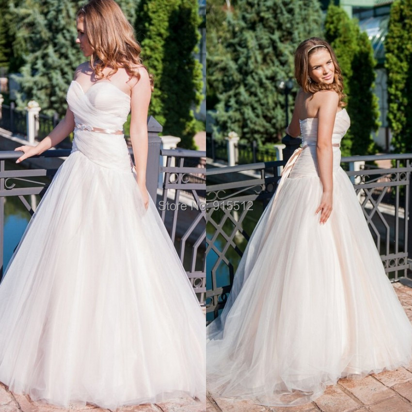Pink Couture On Sales Custom Made Sweetheart Neckline Tulles Fabric New Christmas vestido de noiva Ball Gown Wedding Dress(China (Mainland))